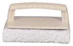 Scrub Pad w/Handle Fine White