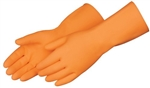 Gloves Orange Latex Heavyweight