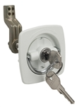 Flush Lock Wht 2.5 x 2.5