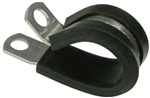 1/2in S/S Rubber Insulated Clamp