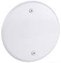 Cover Plate Round 5 Inch WHT