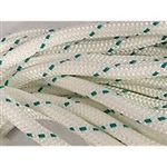 Yacht Brd Rope 3/8 W/green Trace
