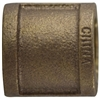 Coupling Pipe 1-1/4in Bronze