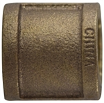 Coupling Pipe 1-1/2in Bronze