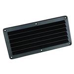 ABS Louvered Vent Blk..4 7/8 X 5