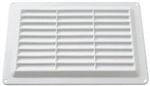 ABS Louvered Vent Wht..4 7/8 X 5