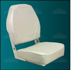 Seat, White High Back Econo Fold