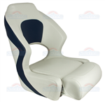 Seat Wht/Blue, Dlx Flip up