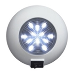 Surface Mount LED Accent Dome Light (12 White LEDs)
